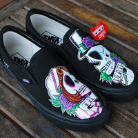 TIL DEATH custom hand-painted Vans