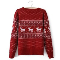 Red Deer Christmas Sweater