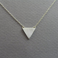 Triangle Necklace Pendant - Geometric Jewelry - Small Triangle - Sterling Silver