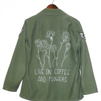 COFFEE & FLOWERS Vintage High-end Army Jacket/Shirt