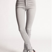 Second Skin Denim Greyed Out High Waist Jeans in Heavy Wash by Cheap Monday | Edge of Urge