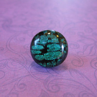 Green Tie Tack, Dichroic Lapel Pin, Womens Jewelry, Fathers Day,  Mens Jewelry - Elliott - 009 -3