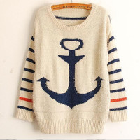 Fanewant — FRESH ANCHOR CUTE SWEATER