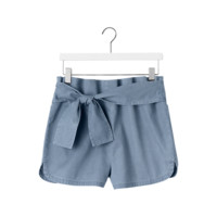Paper Bag Shorts in Denim