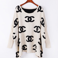 A 082706 aaa Retro loose bat sleeve sweater