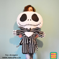 Jack Skellington soft toy with all the details. Really big.