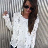 Wave On Wave Sweater - CREAM | The Rage