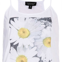 Photo Flower Cami - Jersey Tops - Clothing - Topshop