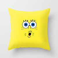 Spongebob 2 Throw Pillow by Valerie Hoffmann