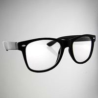 Black Wayfarer Pretender 'Hipster' Fashion Glasses