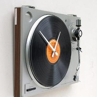 Clock made from a recycled turntable  Lost At E Minor: For creative people