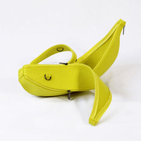 Banana Yellow Fruit Felt Bag