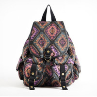 Vintage Tribe Diamond Print Backpacks for School