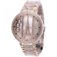Luxury Ladies Diamond-studded Eiffel Tower Watch for Women