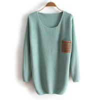 A 081907 c Thick collar loose long-sleeved sweater bottoming26
