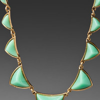 HOUSE OF HARLOW Revolve EXCLUSIVE Pyramid Station Necklace in Mint Green at Revolve Clothing - Free Shipping!