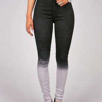 Fade Away High Waist Skinnys | Trendy Denim at Pink Ice