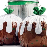 Christmas Pudding Bin Bag