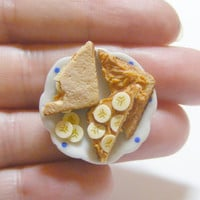 Scented Peanut Butter and Banana Sandwich Miniature Food Ring - Miniature Food Jewelry,Handmade Jewelry Ring