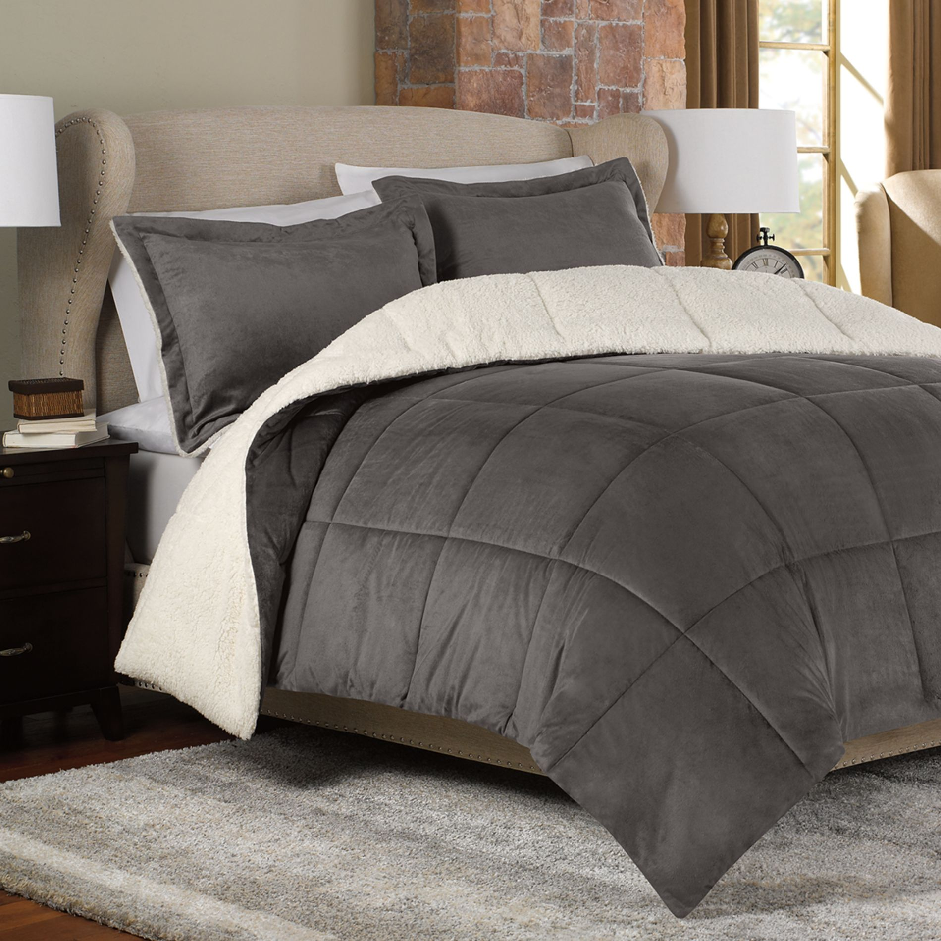 Seasons reversible down alternative from bed bath beyond - Bed bath and beyond bedroom furniture ...