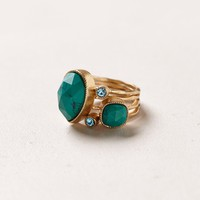 Turquoise Serpentes Ring Set