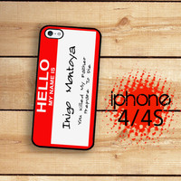iPhone 4 Case iPhone 4S Case Hello My Name is by TheCuriousCaseLLC