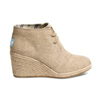 Womens TOMS Desert Wedge Casual Shoe, Natural, at Journeys Shoes