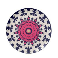 Pink floral pattern plates by Clareville Designs