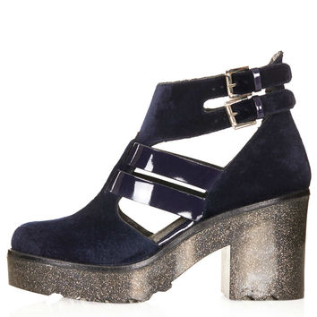 APACHE Velvet Cut Out Boots - New In This Week - New In - Topshop USA
