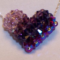 Swarovski Crystals 5301 Puffy Heart Multiple Purples | DianaLynn - Jewelry on ArtFire