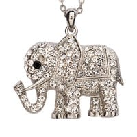 Bling Elephant Long-Strand Necklace - Aeropostale
