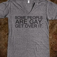 SOME PEOPLE ARE GAY UNISEX V-NECK TEE