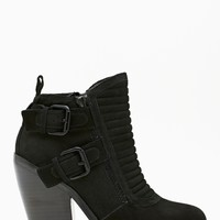 Shoe Cult Outlaw Buckled Boot - Black