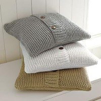 Chunky Purl Pillow Cover | west elm