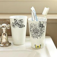 Porcelain Butterfly Tumblers | west elm