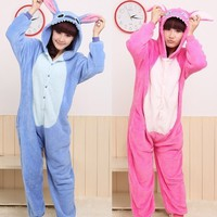 HOT DISNEY STITCH COSPLAY COSTUME pajamas pyjamas Onesuit sleepwear Coral fleece