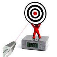 Laser Target Alarm Clock - Lazybone
