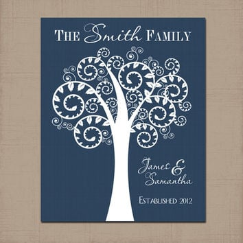 custom couple tree personalized family from jtprinting on etsy. Black Bedroom Furniture Sets. Home Design Ideas