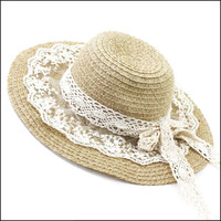 KUFEI Korea genuine princess lace Lolita sun hat Dayan Mao hat millinery summer UV