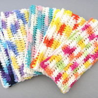 Dish Cloth Wash Cloth Crochet Set of 5