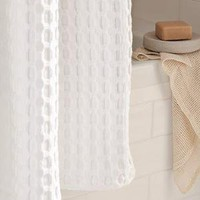Waffle Grommet Shower Curtain | west elm