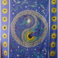 Dolphins Yin-Yang Tapestry