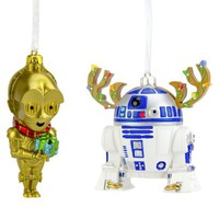 2-Piece 3D Star Wars Ornament Set