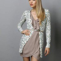Soft Floral Sweater - Floral Cardigan - Cream Cardigan - &amp;#36;53.00
