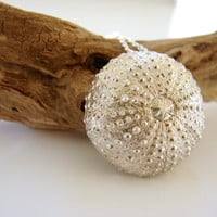 Sea Urchin sterling silver pendant by Nafsika on Etsy