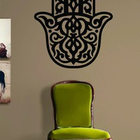 Hamsa Hand Version 2 Decal Sticker Wall Vinyl Art Blessings Power Strength