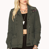 Military-Inspired Tribal-Trimmed Jacket | FOREVER 21 - 2000076379