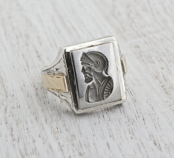 vintage sterling silver 10k yellow gold from maejean vintage