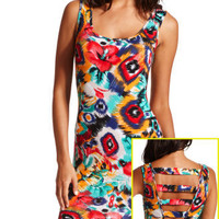 Charlotte Russe - Abstract Floral Body-Con Dress