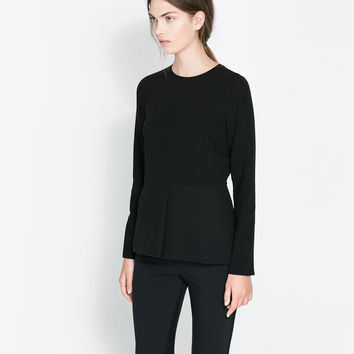 ROUND NECK TOP - Shirts - Woman | ZARA United States